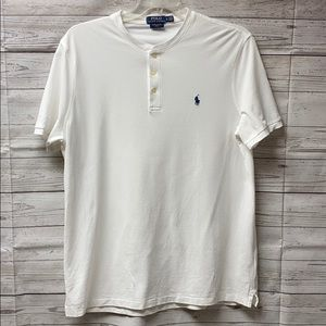 Ralph Lauren Polo Short Sleeve White Henley